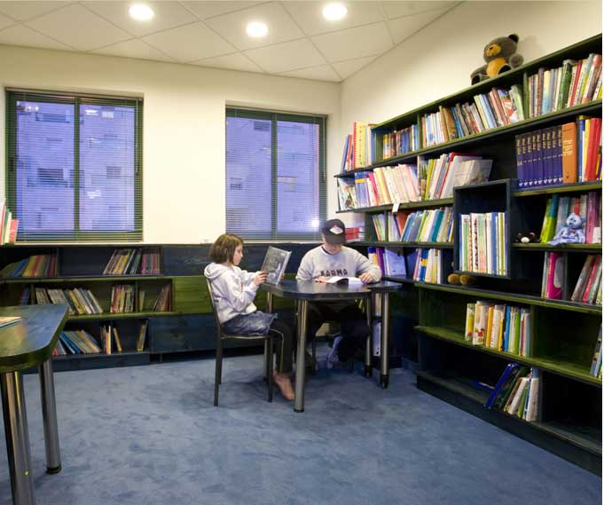 house of dreams activity center for children with cancer - library